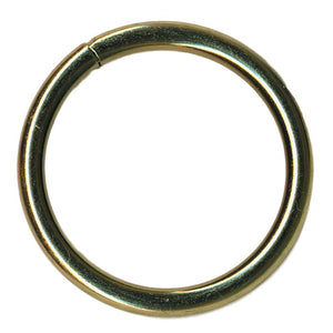 "Brass Plated Welded O Ring - 2"", 1.5"", 1"""
