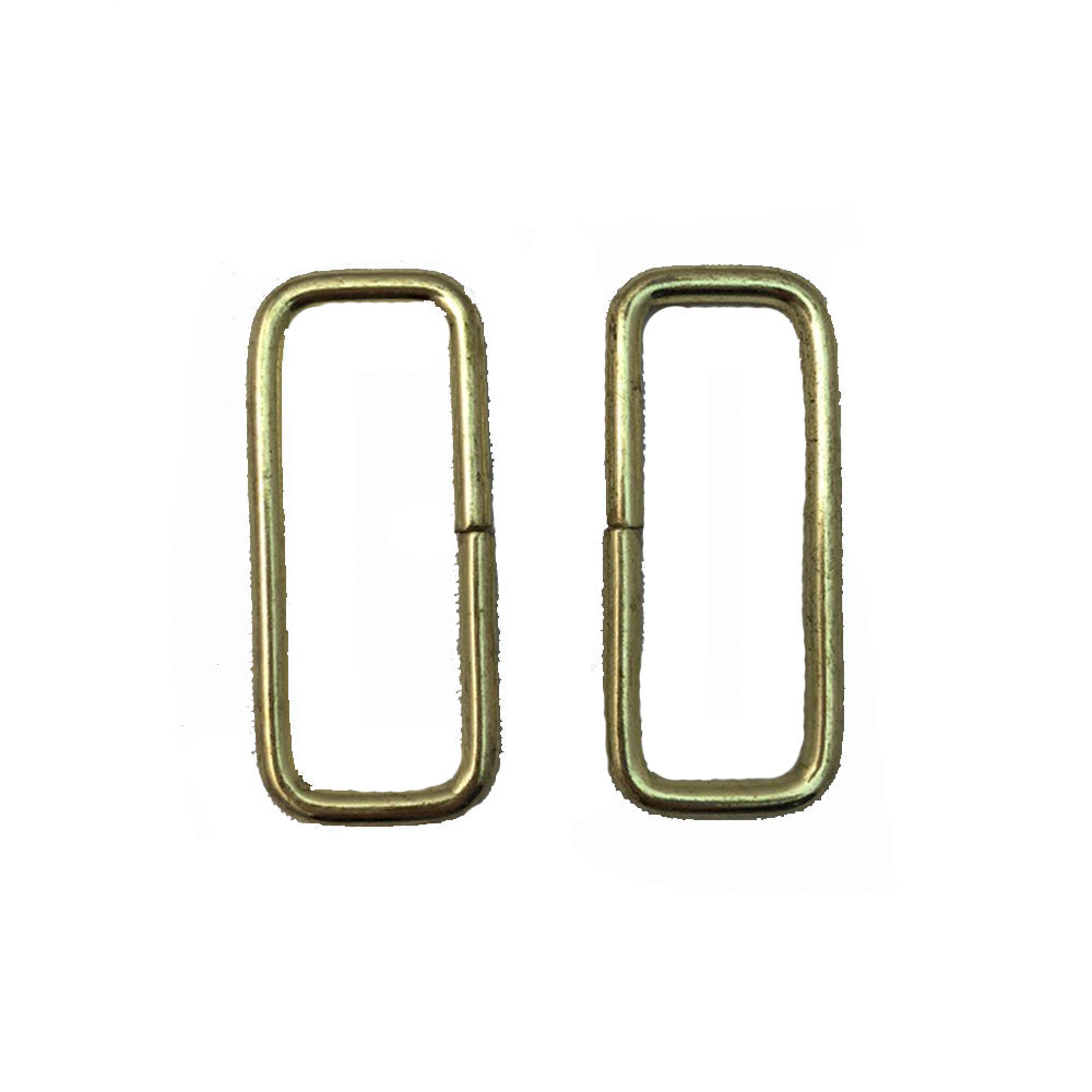 "Steel Rectangle Rings - 0.5"" x 1.5"" - 12 Pack"