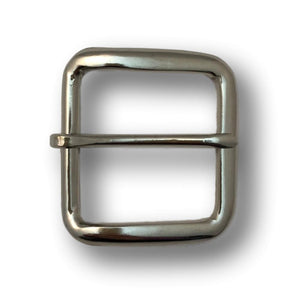 "1.5"" Square Nickel Belt Buckle"