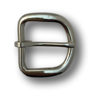 "Economy Nickle Rounded Belt Buckle - 1.25"" - 1"""