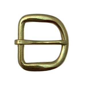 "Economy Rounded Gilt Belt Buckle - 1 1/4"", 1"", 3/4"", 5/8"", 1/2"""
