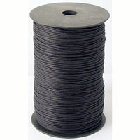 Black Waxed Cotton Cord Lace Spool - 1mm x 100 yards - 2mm x 100 yards - 2mm x 288 yards