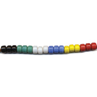 Czech Crow Beads for Crafts & Jewelry Making - Black, Blue, Green, Red, White, Yellow