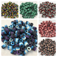 Stylish Colorful Jewelry Making Craft Beads - Assorted Pack of 100 Fimo Beads