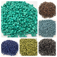 Beautiful Ceramic Colorful Jewelry Making Craft Beads - Assorted Pack of 1000 Beads