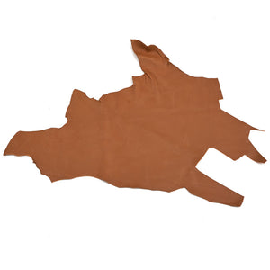 Vintage Brown Partial Leather Hides - 7-8 oz Cowhide - 8-14 Square Feet