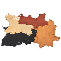Miscellaneous Assorted Deerskin Leather Hides - 3 oz - B Grade