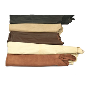 Large Assorted Upholstery Leather Hides - 42-46 Square Feet - B+ Grade - 2-4 oz Cowhide