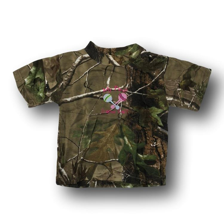 """My First Game Call"" Little Hunter Camo Tshirt- 18 Months"