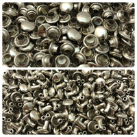 Nickel Rivets for Leather Crafts - 1/4