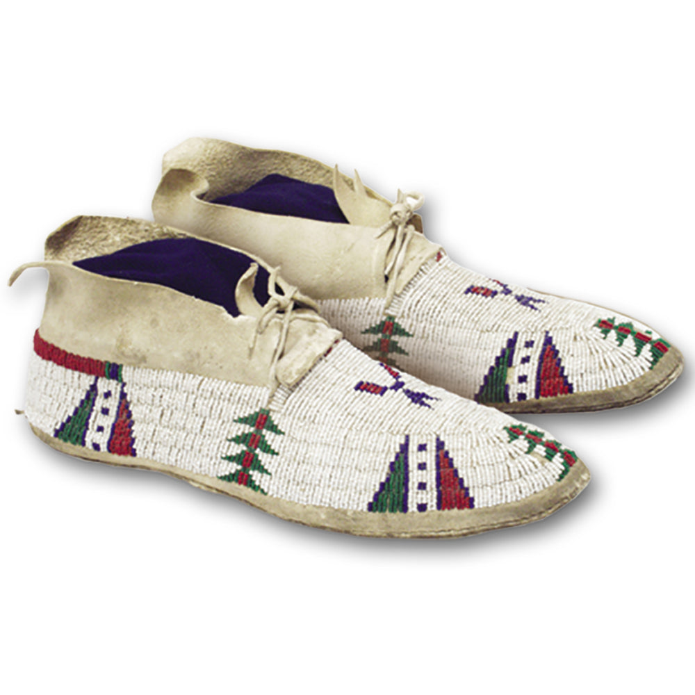 Native American Plains Style Moccasins Pattern - Make Your Own Indian Moccasins - Men - Women