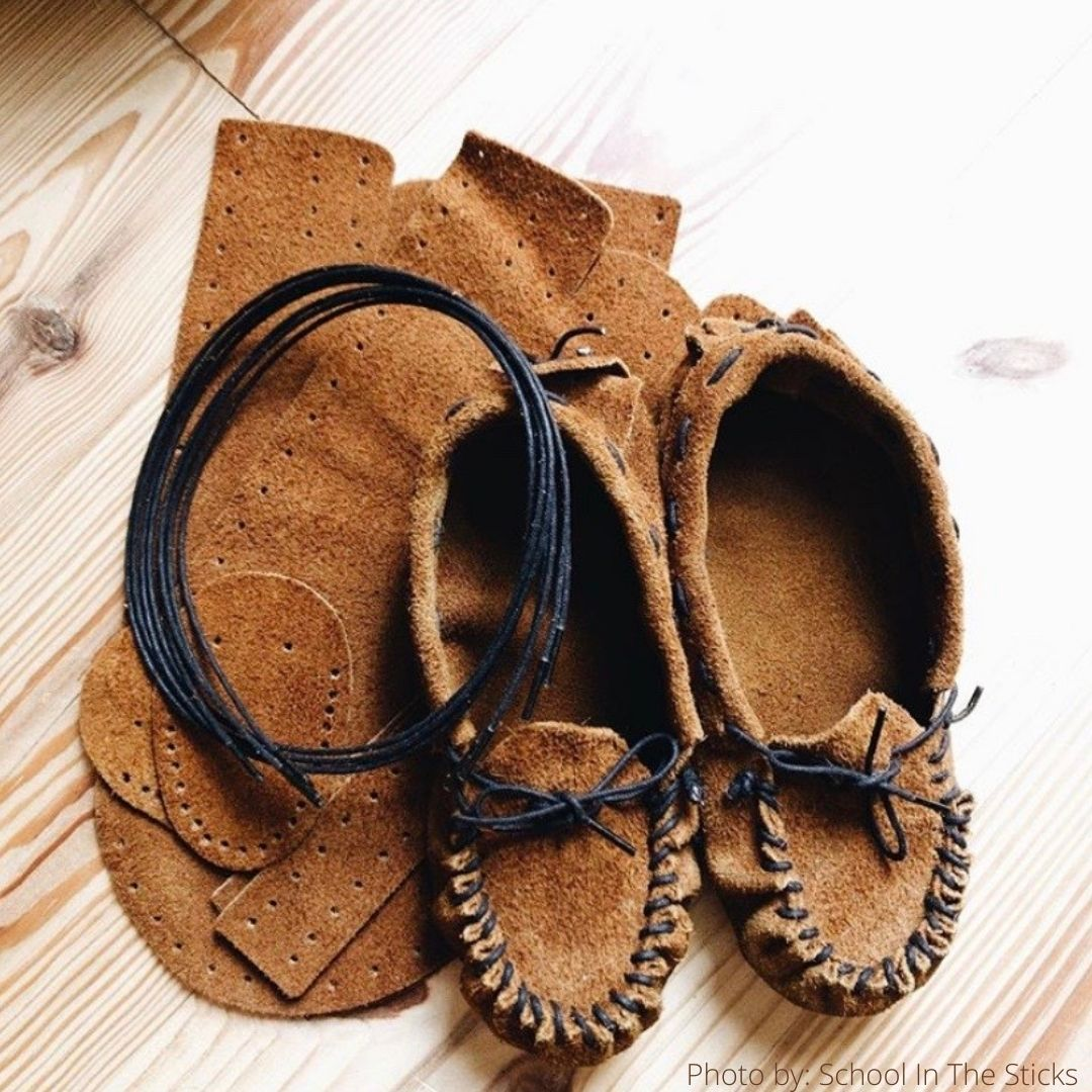 DIY Leather Moccasin Craft Project