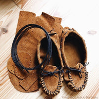 Make your own Moccasins - DIY Leather Moccasin Craft Project - Men - Women - Children - Infant - Handmade Moccasins Kit