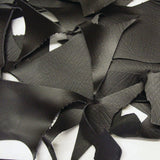 Black Crock Print Cowhide Leather Pieces & Scraps