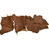 Brown Leather Pieces - 7 to 8 oz Cowhide Rustic Leather Pieces