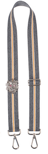 Bag Strap dark-grey yellow - Silver Lionmotive R - gabriele frantzen