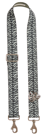 Bag Strap Zebraprint - Silver Snakemotive