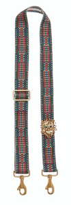 Bag Strap red-blue-green - Gold Lionmotive G - gabriele frantzen