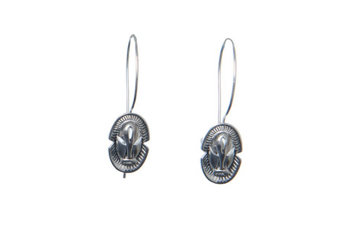Mask Hoops - Silver