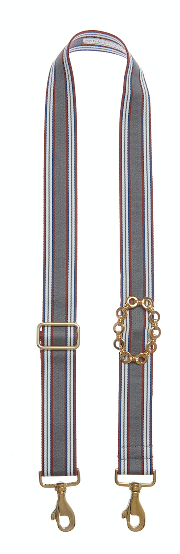 Bag Strap multi-grey - Gold Round Chain