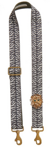 Bag Strap Zebraprint - Gold Lionmotive G