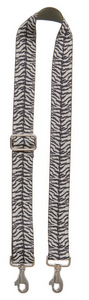 Bag Strap Zebraprint - Silver / Gold