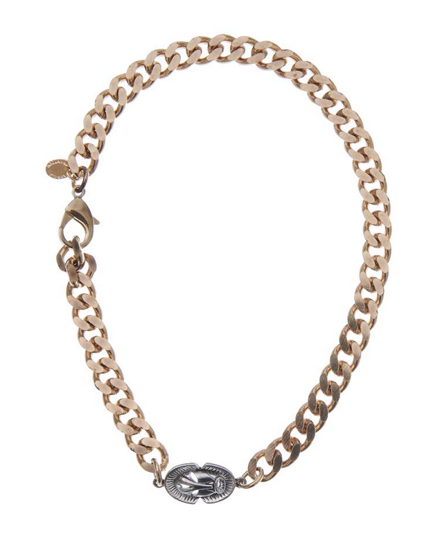 Curb Chain Choker Mask - Silver