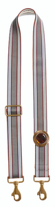 Bag Strap grey-burgundy - Sun Gold Topaz