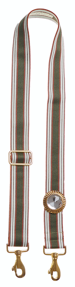 Bag Strap olive-burgundy - Sun Gold Crystal