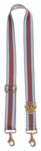 Bag Strap burgundy-blue - Gold Tigermotive O