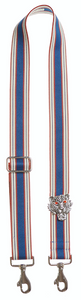 Bag Strap blue-cognac - Silver Tigermotive O