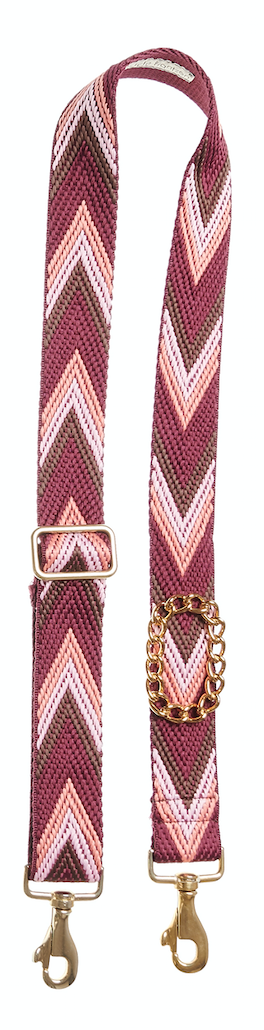 Bag Strap Racer red - Gold Classic Chain