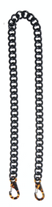 Acryl Chain Bag Strap - black shiny