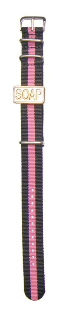 Soap Watch Candy Bracelets - pink-black