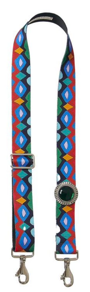 Bag Strap Belano Mix red - Sun Silver Green - gabriele frantzen