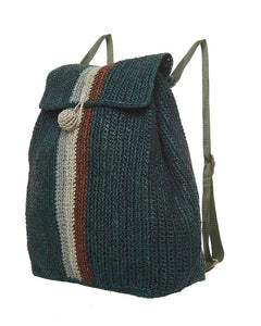 Raffia Bag Backpack Forrest mix