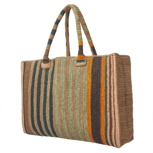 Raffia Bag Weekender Safari Mix - gabriele frantzen