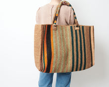 Raffia Bag Weekender Safari Mix