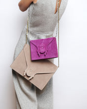 Mini Clutch - Suede Cognac