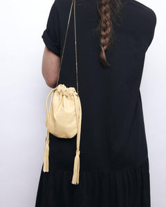 Fringe Bag mini - Metallic bronze