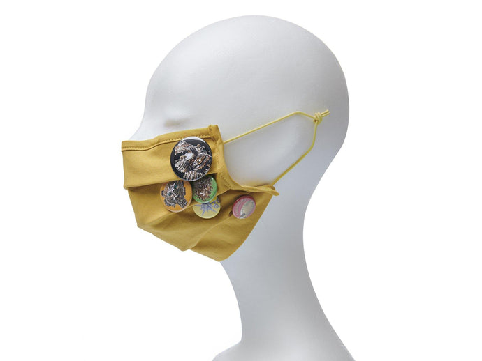 Community Mouth Nose Mask - yellow