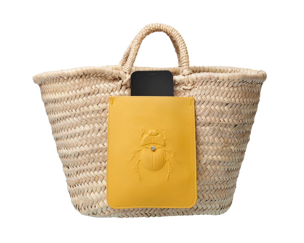 Raffia Bag Straw Bag Scarabmotive sunshine