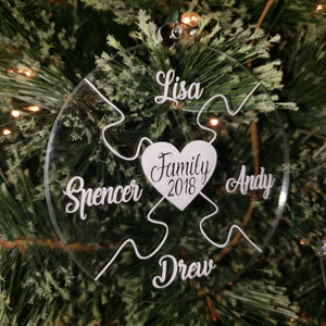 2020 Custom Family Puzzle Ornament
