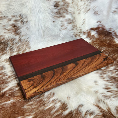 Brazilian Cherry, Wenge, and Zebrawood Cutting Board