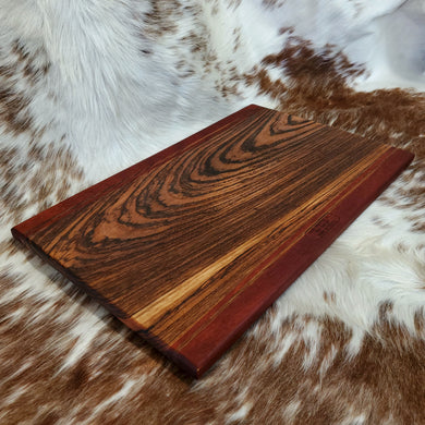 Padauk and Zebrawood Cutting Board