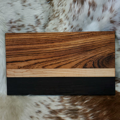 Zebrawood, Maple, & Wenge Cutting Board