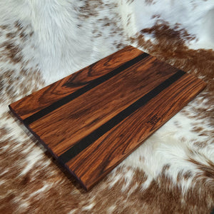 Zebrawood & Wenge Cutting Board