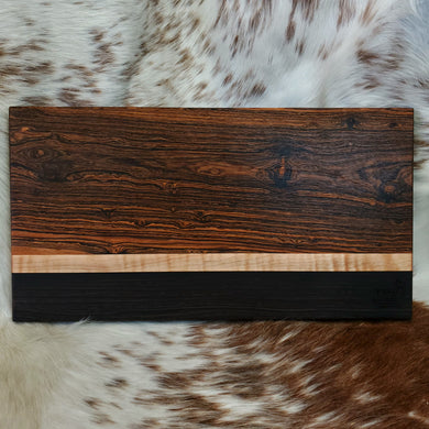 Bocote, Maple, & Wenge Cutting Board