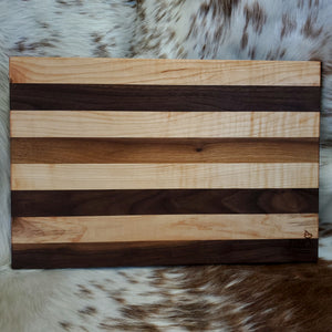 Maple & Walnut Stripes Cutting Board
