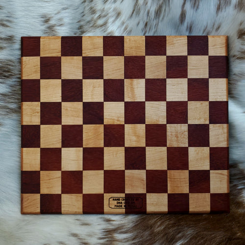 Maple and Padauk Checkered Cutting Board